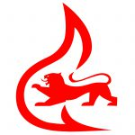 Feuerwehrsignet Baden-Württemberg - rot,weiß